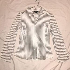 Express jersey prnt pullon shirt lace up CB/sleeve